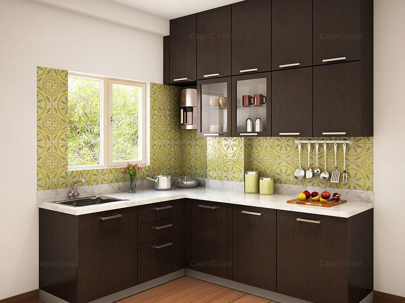 Munnar L Shaped Modular Kitchen Designs India Homelane